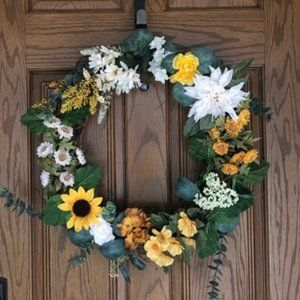 Fall Handmade Floral Wreath 22x22